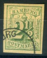 """ALLEMAGNE/HAMBOURG  ( POSTE ) : Y&T  N°  10  """"  FAUX  """"  TIMBRE  OBLITERE . - Hamburg"""