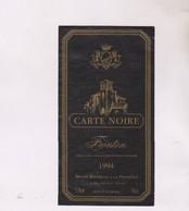 ETIQUETTE VIN FRONTON CART NOIRE 1994! - Red Wines