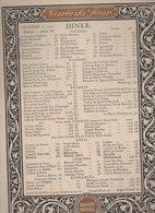 Menu SAVOY HOTEL Dîner Du 17 December 1913(CAT 1127) - Menu