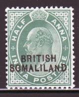Somaliland Protectorate 1903 Edward VII Half Anna Green Stamp. - Somaliland (Protectorate ...-1959)