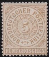 Nord       .    Michel  .   18       .     *   .    Ungebraucht   Mit Gummi Und Falz  .  /  .  Mint-hinged - Norddeutscher Postbezirk