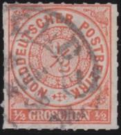 Nord       .    Michel      .   3       .         O      .    Gebraucht  .   /  .   Cancelled - Norddeutscher Postbezirk