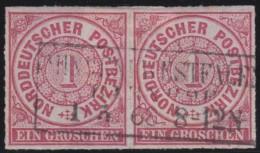 Nord       .    Michel      .   4  Paar    .         O      .    Gebraucht  .   /  .   Cancelled - Norddeutscher Postbezirk
