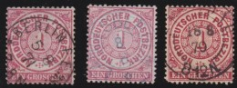 Nord       .    Michel      .     16   3x      .         O      .    Gebraucht  .   /  .   Cancelled - Norddeutscher Postbezirk
