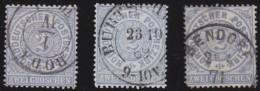 Nord       .    Michel      .     17  3x      .         O      .    Gebraucht  .   /  .   Cancelled - Norddeutscher Postbezirk