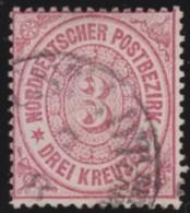 Nord       .    Michel      .     21      .         O      .    Gebraucht  .   /  .   Cancelled - Norddeutscher Postbezirk