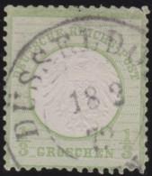 Deutsches Reich     .    Michel      .    2      .         O      .    Gebraucht  .   /  .   Cancelled - Oblitérés