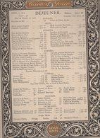 Menu SAVOY HOTEL  Dejeuner Du 6 April 1914 (CAT 1129) - Menus