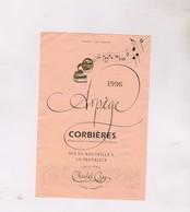 ETIQUETTE VIN  , ARPEGE CORBIERES 1996! - Vin De Pays D'Oc