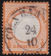 Deutsches Reich     .    Michel      .    3     .         O      .    Gebraucht  .   /  .   Cancelled - Oblitérés
