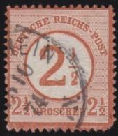 Deutsches Reich     .    Michel      .     25        .         O      .    Gebraucht  .   /  .   Cancelled - Germania