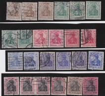 Deutsches Reich     .    Michel      .   24  Marken   Rauten      .         O      .    Gebraucht  .   /  .   Cancelled - Germany