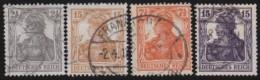 Deutsches Reich     .    Michel      .     98/101        .         O      .    Gebraucht  .   /  .   Cancelled - Deutschland
