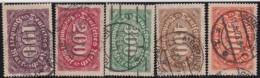 Deutsches Reich     .    Michel      .  219/223     .    O      .    Gebraucht  .   /  .   Cancelled - Deutschland