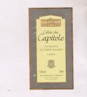 ETIQUETTE VIN  , CELLIER DU CAPITOLE 1994! - Red Wines