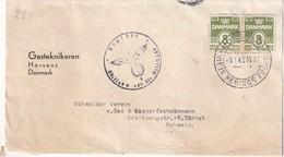 DANEMARK 1943 LETTRE CENSUREE DE HORSENS - Brieven En Documenten
