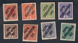 Ceskoslovenska 1919 8 Francobolli Cod.FRA.1135 - Cecoslovacchia