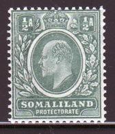 Somaliland Protectorate 1909 Edward VII Half Anna Green Stamp. - Somaliland (Protectorate ...-1959)