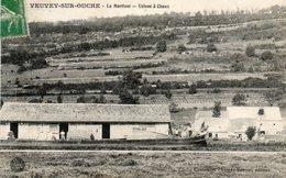 CPA - VEUVEY-sur-OUCHE (21) - Péniche Au Chargement De Sac De Chaux à L'Usine De Le Martinet En 1908 - Andere Gemeenten