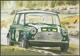 Mini Cooper At Snetterton - Golden Era Postcard - Passenger Cars