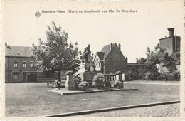 MOERBEKE WAAS Markt En Standbeeld Van Mw. De Keckhove - Moerbeke-Waas