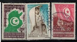 TUNISIE      N°  YVERT      451/453   OBLITERE       ( O 04/02 ) - Tunisia