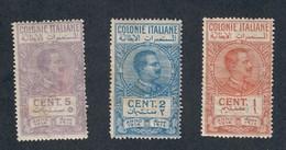 Colonie Italiane 1914 1 + 2 + 5 Cent Linguellati  Cod.FRA.1136 - Italienisch Ost-Afrika