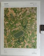 GROTE-LUCHT-FOTO KLUIZEN ERTVELDE ERVERGEM SLEIDINGE In 1990 48x67cm KAART ORTHOFOTOPLAN TOPOGRAPHIE PHOTO AERIENNE R639 - Evergem