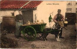 2 CPA Nels Nr  435 & 436 Hondenkar ( Attelage De Chien, Dogcart ) LAITIERES Flamandes, Gekleurd (eerste Druk = Oudste) - Chiens