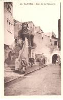 POSTAL   TANGER  -MARRUECOS  - RUE DE LA TANNERIE  ( CALLE DE LA CURTIDURIA) - Tanger