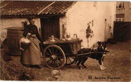Nels Nr  42 Hondenkar ( Attelage De Chien, Dogcart ) LAITIERES Flamandes, C1919 Milch Melk Milk - Chiens