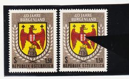 NEU1147 ÖSTERREICH 1961 PLATTENFEHLER Michl 1098 FARBE ROT VERSCHOBEN SIEHE ABBILDUNG - Abarten & Kuriositäten