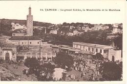 POSTAL   TANGER  -MARRUECOS  - LE GRAND SOKKO- LA MENDOUBIA ET LE MARSHAN - Tanger