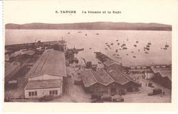 POSTAL   TANGER  -MARRUECOS  - LA DOUANE ET LA RADE - Tanger