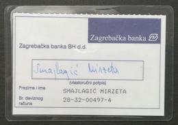 Bosnia And Herzegovina Zagrebacka Banka Credit Bank Card - Credit Cards (Exp. Date Min. 10 Years)