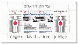 Israël 1980, Postfris MNH, 50 Years Of Organization Magen David Adom - Blokken & Velletjes
