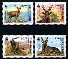 E02843)Usbekistan WWF 61/4**, Schraubenziege - Unused Stamps