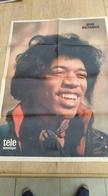 Affiche Poster Télé Moustique. Jimi Hendrix. 1973 - Affiches