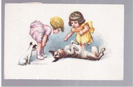 Illustr. A BERTIGLIA Ca 1920 OLD POSTCARD 2 Scans - Bertiglia, A.