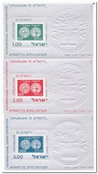 Israël 1974, Postfris MNH, International Stamp Exhibition JERUSALEM '73 ( Thin Paper ) - Blokken & Velletjes