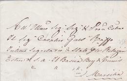 1840 Lettre PURIFIÉE DE TUNIS A MARSEILLE - GUISEPPE RASSO SECRETAIRE DU BEY DE TUNIS - ...-1850 Préphilatélie