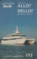 Canada Bell - Prepaid - Croisieres - Catamaran - 10$ - Canada