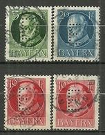 Bayern, Dienst Nr. 13-15, Gestempelt - Bavière