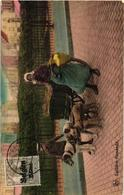 2 CPA Nels Nr  411 & 3 Hondenkar ( Attelage De Chien, Dogcart ) LAITIERE Flamande, 1915 & 1919 Milch Melk Milk - Marchands Ambulants