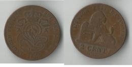 BELGIQUE  2 CENTIMES 1864 - 1831-1865: Leopold I