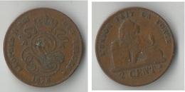 BELGIQUE  2 CENTIMES 1870 - 1831-1865: Leopold I