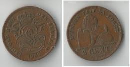 BELGIQUE  2 CENTIMES 1902 - 1831-1865: Léopold I