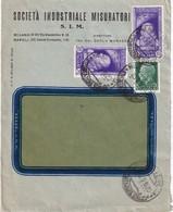 ITALIE 1935 LETTRE DE MILAN - Storia Postale