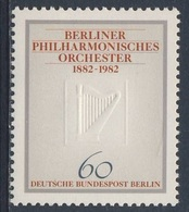 Germany Berlin 1982 Mi 666 YT 627 Sc 9N472 ** Harp / Harfe - 100 Jahre Berliner Philharmonisches Orchester - Muziek
