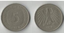 ALLEMAGNE  5 MARK 1975 - [ 7] 1949-…: BRD
